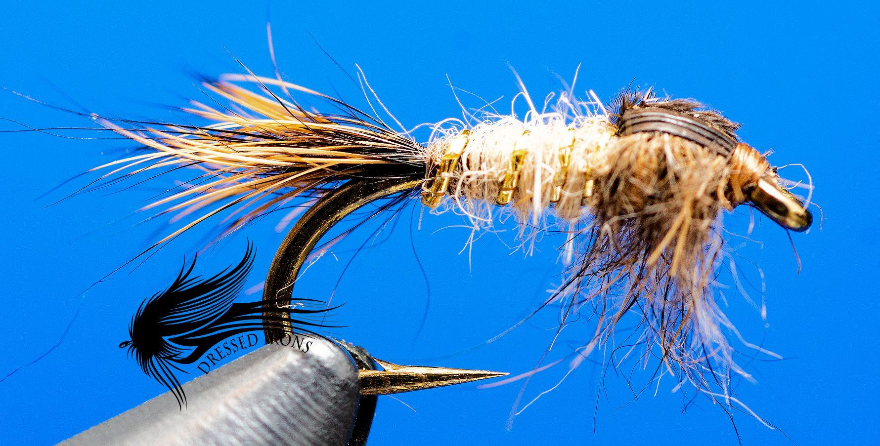 6 #12 bead head rubber leg hares ear nymphs